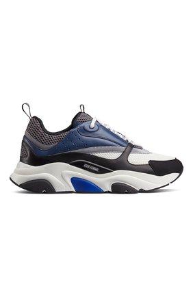 Мужские комбинированные кроссовки b22 DIOR синего цвета, арт. 3SN231YULH569 | Фото 1