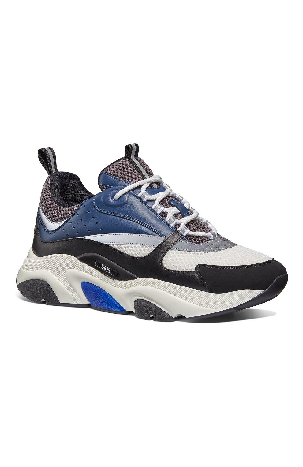 Мужские комбинированные кроссовки b22 DIOR синего цвета, арт. 3SN231YULH569 | Фото 2