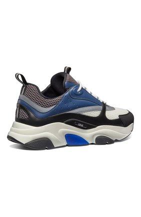 Мужские комбинированные кроссовки b22 DIOR синего цвета, арт. 3SN231YULH569 | Фото 3