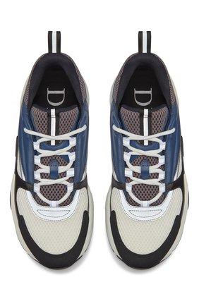 Мужские комбинированные кроссовки b22 DIOR синего цвета, арт. 3SN231YULH569 | Фото 4