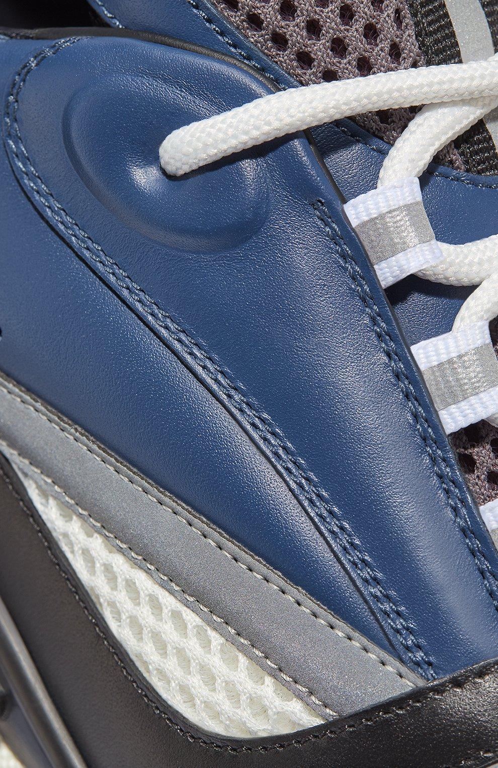 Мужские комбинированные кроссовки b22 DIOR синего цвета, арт. 3SN231YULH569 | Фото 5