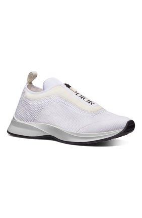 Мужские текстильные кроссовки b25 DIOR белого цвета, арт. 3SN258YTQH000 | Фото 2