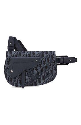 Мужская текстильная сумка saddle DIOR синего цвета, арт. 1ADPO095YKYH55E | Фото 1