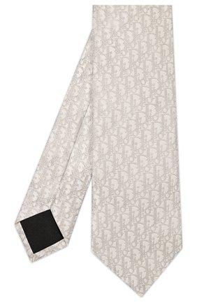 Мужской шелковый галстук DIOR бежевого цвета, арт. 02C1047A0285C180 | Фото 2