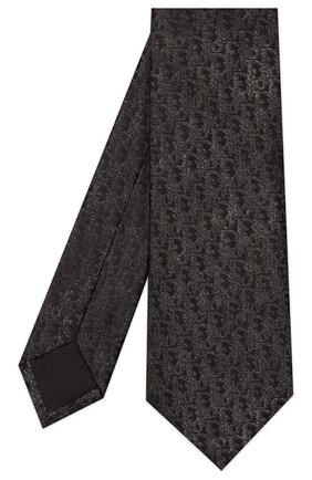 Мужской шелковый галстук DIOR черного цвета, арт. 02C1047A0285C889 | Фото 2