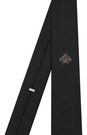 Мужской шелковый галстук DIOR черного цвета, арт. 02C1047A0318C981 | Фото 2