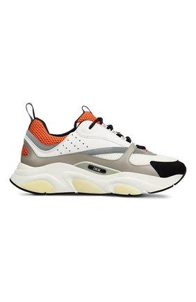 Мужские комбинированные кроссовки b22 DIOR оранжевого цвета, арт. 3SN231YULH063 | Фото 1