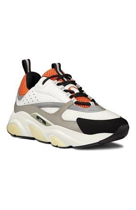 Мужские комбинированные кроссовки b22 DIOR оранжевого цвета, арт. 3SN231YULH063 | Фото 2
