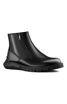 Мужские кожаные сапоги DIOR черного цвета, арт. 3BO229YOCH900 | Фото 2