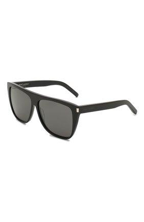 Женские солнцезащитные очки SAINT LAURENT серого цвета, арт. SL 1 | Фото 1 (Тип очков: С/з; Очки форма: D-форма, Прямоугольные; Оптика Гендер: оптика-женское)