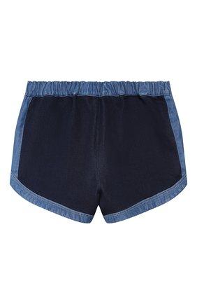 Детские хлопковые шорты CHLOÉ голубого цвета, арт. C14609 | Фото 2