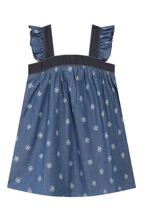 Женский хлопковый сарафан CHLOÉ голубого цвета, арт. C02264 | Фото 1