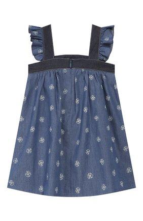 Женский хлопковый сарафан CHLOÉ голубого цвета, арт. C02264 | Фото 2