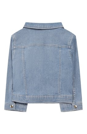 Детского джинсовая куртка CHLOÉ голубого цвета, арт. C06100 | Фото 2