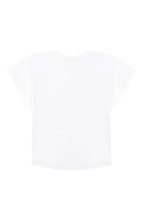Детская хлопковая футболка GIVENCHY белого цвета, арт. H15155 | Фото 2