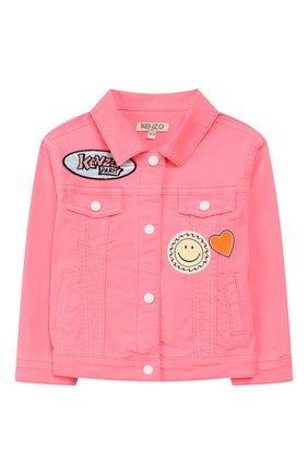 Детская джинсовая куртка KENZO розового цвета, арт. KQ41018 | Фото 1