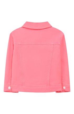 Детская джинсовая куртка KENZO розового цвета, арт. KQ41018 | Фото 2