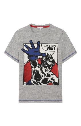 Детская хлопковая футболка MARC JACOBS (THE) серого цвета, арт. W25416 | Фото 1