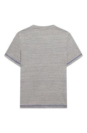 Детская хлопковая футболка MARC JACOBS (THE) серого цвета, арт. W25416 | Фото 2
