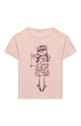Детская хлопковая футболка MARC JACOBS (THE) розового цвета, арт. W15489 | Фото 1