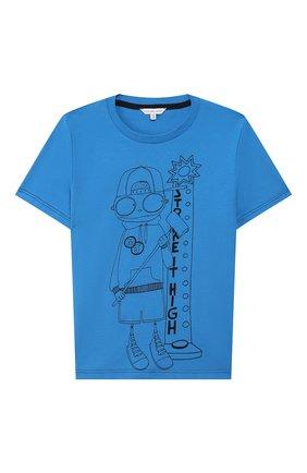 Детская хлопковая футболка MARC JACOBS (THE) голубого цвета, арт. W25417 | Фото 1
