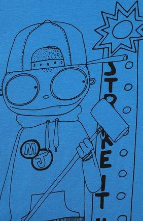 Детская хлопковая футболка MARC JACOBS (THE) голубого цвета, арт. W25417 | Фото 3