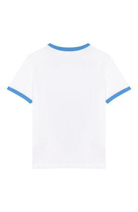 Детская хлопковая футболка MARC JACOBS (THE) белого цвета, арт. W25419 | Фото 2