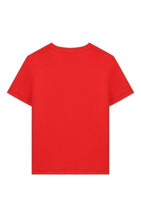 Детская хлопковая футболка MARC JACOBS (THE) красного цвета, арт. W25414 | Фото 2