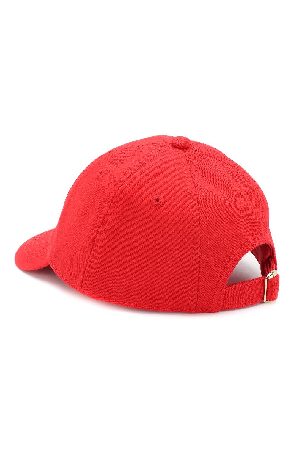 Детская хлопковая бейсболка MINI RODINI красного цвета, арт. 20265105 | Фото 2