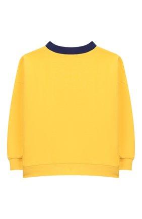 Детский хлопковый свитшот MINI RODINI желтого цвета, арт. 20220162 | Фото 2