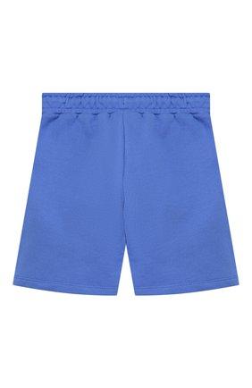 Детские хлопковые шорты MINI RODINI синего цвета, арт. 20230145 | Фото 2