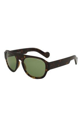 Мужские солнцезащитные очки MONCLER коричневого цвета, арт. ML 0096 52N 53 С/З ОЧКИ | Фото 1