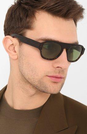Мужские солнцезащитные очки MONCLER коричневого цвета, арт. ML 0096 52N 53 С/З ОЧКИ | Фото 2