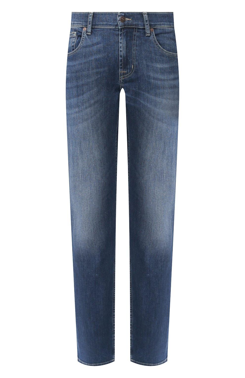 Мужские джинсы 7 FOR ALL MANKIND синего цвета, арт. JSMSU250MX   Фото 1