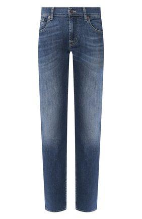 Мужские джинсы 7 FOR ALL MANKIND синего цвета, арт. JSMSU250MX | Фото 1