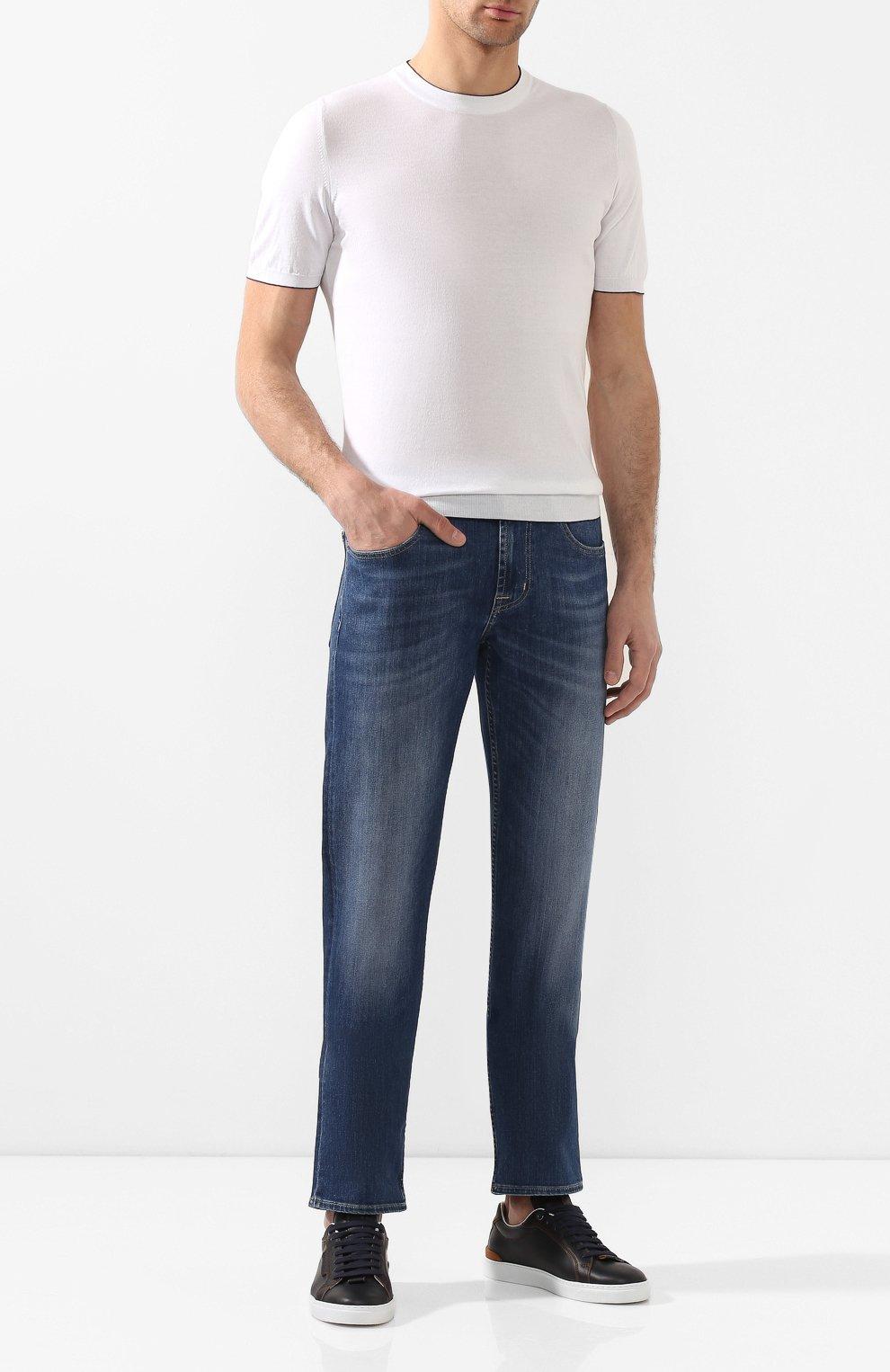 Мужские джинсы 7 FOR ALL MANKIND синего цвета, арт. JSMSU250MX   Фото 2