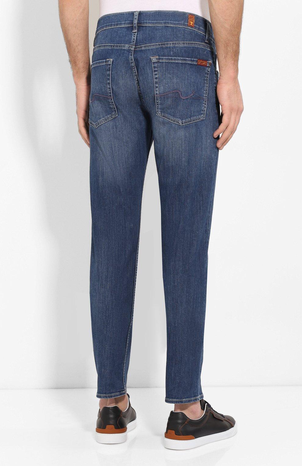 Мужские джинсы 7 FOR ALL MANKIND синего цвета, арт. JSMSU250MX   Фото 4