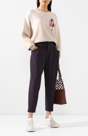 Женская хлопковый свитшот ISABEL MARANT кремвого цвета, арт. SW0240-20E044I/BELEM | Фото 2
