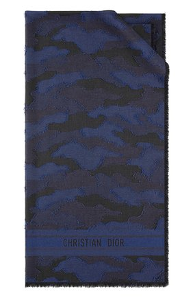 Мужские шарф dior camouflage DIOR синего цвета, арт. 01CAM304I198C086   Фото 1