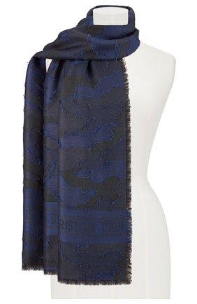 Мужские шарф dior camouflage DIOR синего цвета, арт. 01CAM304I198C086   Фото 2