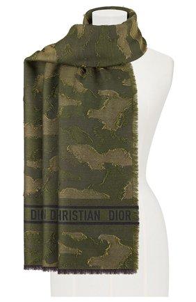 Мужские шарф dior camouflage DIOR хаки цвета, арт. 01CAM304I198C640   Фото 2