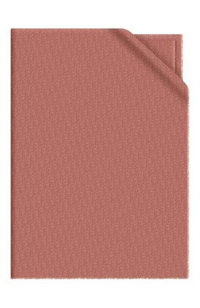 Женская кашемировая шаль dior oblique DIOR розового цвета, арт. 01CDO300A050C402 | Фото 1