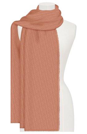 Женская кашемировая шаль dior oblique DIOR розового цвета, арт. 01CDO300A050C402 | Фото 2