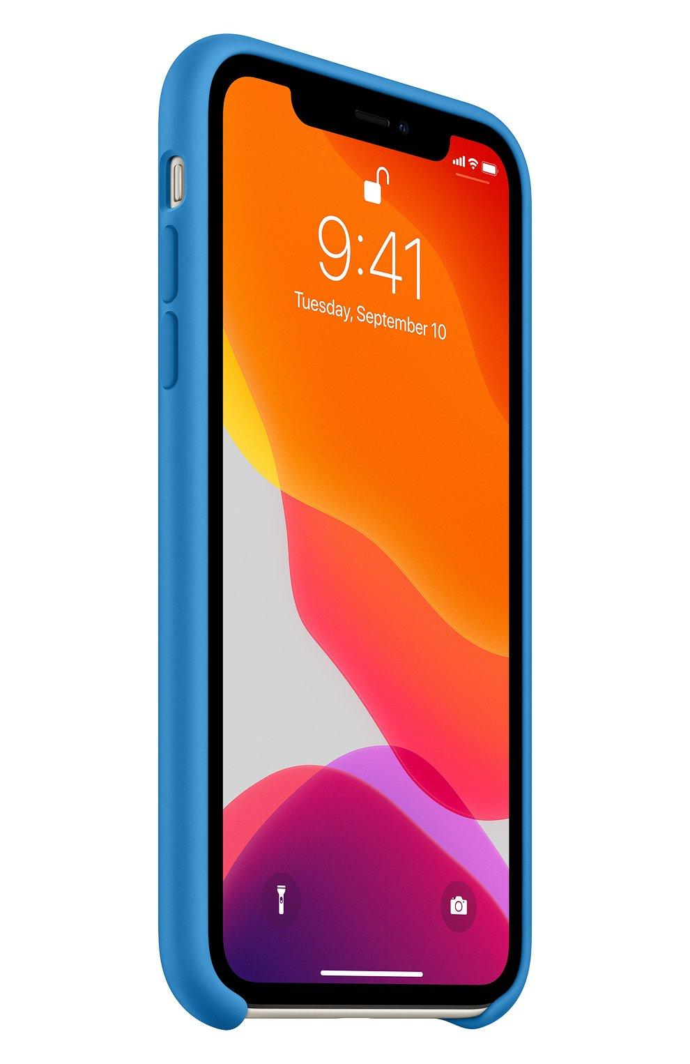 Мужской чехол для iphone 11 APPLE  синего цвета, арт. MXYY2ZM/A | Фото 2