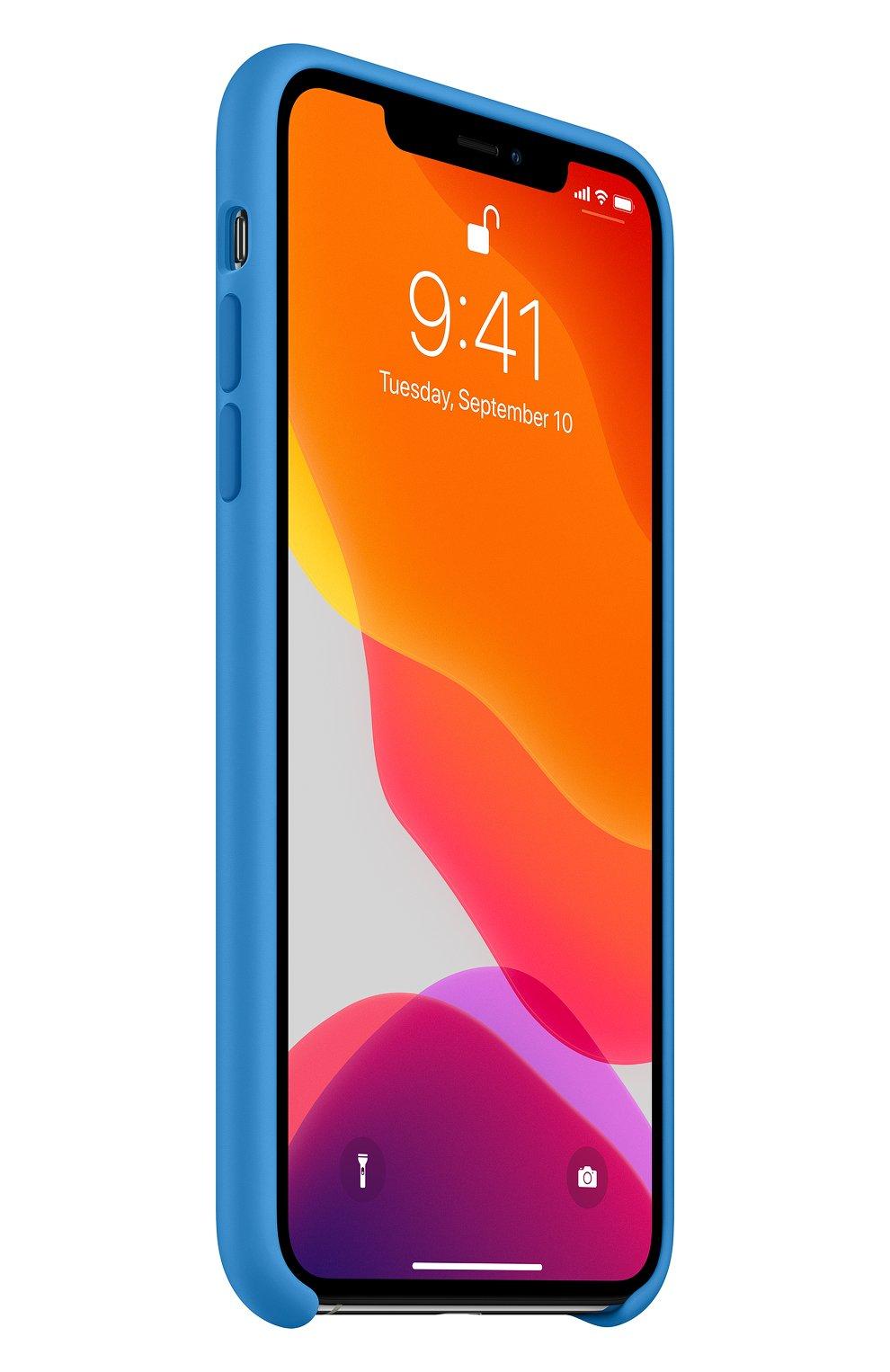 Мужской чехол для iphone 11 pro max APPLE  синего цвета, арт. MY1J2ZM/A | Фото 2
