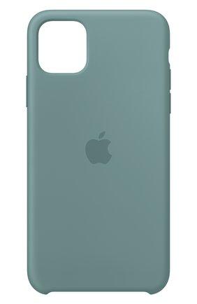 Мужской чехол для iphone 11 pro max APPLE  светло-зеленого цвета, арт. MY1G2ZM/A | Фото 1