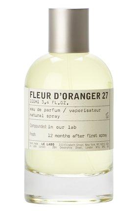 Женский парфюмерная вода fleur d'oranger 27 LE LABO бесцветного цвета, арт. 811901022929   Фото 1