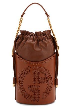 Женская сумка GIORGIO ARMANI коричневого цвета, арт. Y1E137/YTC5A | Фото 1