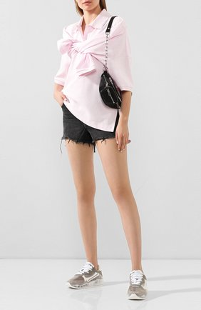 Женское хлопковое поло ALEXANDER WANG розового цвета, арт. 1CC1201316 | Фото 2