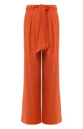 Женские брюки из смеси хлопка и шелка GABRIELA HEARST оранжевого цвета, арт. 220202/T025/42   Фото 1